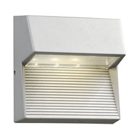 Faro LED 6 inch Silver Outdoor Wall Sconce