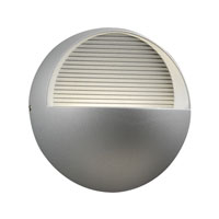PLC Lighting Tummi 3 Light LED Outdoor Wall Sconce in Silver 1775-SL