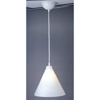 PLC Lighting Rio 1 Light Mini Pendant in White and White Glass 1800/CFL-WH/WH