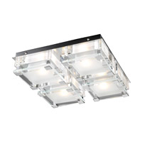 PLC Lighting Corteo Flush Mount in Polished Chrome with Clear Glass 18149-PC