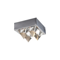 PLC Lighting Crysto Flush Mount in Polished Chrome with Clear Glass 18168-PC