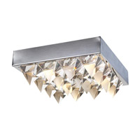 PLC Lighting Crysto Flush Mount in Polished Chrome with Clear Glass 18169-PC