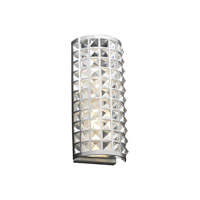 PLC Lighting Jewel Sconce in Polished Chrome with Clear Glass 18185-PC