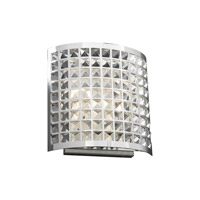 PLC Lighting Jewel Sconce in Polished Chrome with Clear Glass 18186-PC