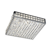PLC Lighting Jewel Flush Mount in Polished Chrome with Clear Glass 18188-PC