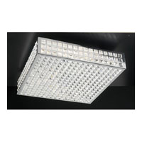 PLC Lighting Jewel Flush Mount in Polished Chrome with Clear Glass 18189-PC