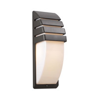 PLC Lighting Synchro Outdoor Wall Sconce in Bronze with Matte Opal Glass 1832-BZ
