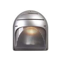 PLC Lighting 1842SL113Q Delphi 1 Light 8 inch Silver Outdoor Wall Light