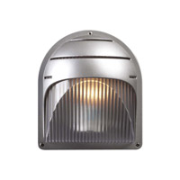 PLC Lighting Delphi Outdoor Wall Sconce in Silver with Frost Glass 1842-SL