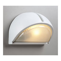 PLC Lighting Claret Outdoor Wall Sconce in White with Frost Glass 1844-WH