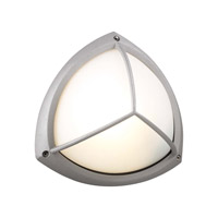 PLC Lighting Canterbury Outdoor Wall Sconce in Silver with Frost Glass 1846-SL