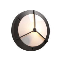 PLC Lighting Cassandra-I Outdoor Wall Sconce in Bronze with Matte Opal Glass 1859/CFL-BZ