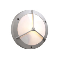 PLC Lighting Cassandra-I Outdoor Wall Sconce in Silver with Matte Opal Glass 1859-SL