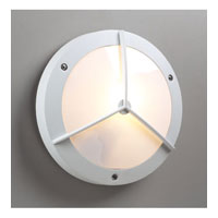 PLC Lighting Cassandra I 1 Light Outdoor Wall Sconce in White 1859-WH
