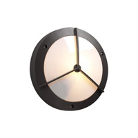 PLC Lighting Cassandra-II Outdoor Wall Sconce in Bronze with Matte Opal Glass 1860-BZ