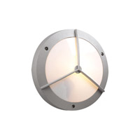 PLC Lighting Cassandra-II Outdoor Wall Sconce in Silver with Matte Opal Glass 1860-SL