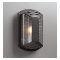 PLC Lighting Athena Outdoor Wall Sconce in Bronze with Frost Glass 1862-BZ photo thumbnail