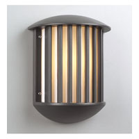 PLC Lighting Circa Outdoor Wall Sconce in Bronze with Matte Opal Glass 1868/CFL-BZ