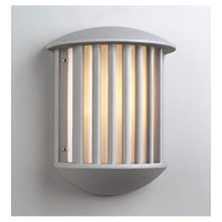 PLC Lighting Circa Outdoor Wall Sconce in Silver with Matte Opal Glass 1868-SL photo thumbnail