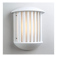 PLC Lighting Circa Outdoor Wall Sconce in White with Matte Opal Glass 1868/CFL-WH