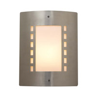 PLC Lighting Paolo 1 Light Outdoor Wall Sconce in Satin Nickel 1873-SN