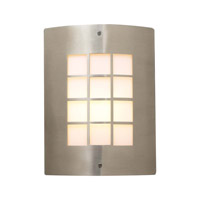 PLC Lighting Turin 1 Light Outdoor Wall Sconce in Satin Nickel 1876-SN