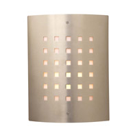 PLC Lighting Figaro 1 Light Outdoor Wall Sconce in Satin Nickel 1879-SN