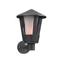 PLC Lighting Silva 1 Light Outdoor Wall Light in Bronze 1886BZ