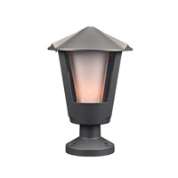 PLC Lighting Silva 1 Light Outdoor Wall Light in Bronze 1888BZ