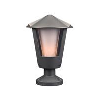 PLC Lighting 1888BZ Silva 1 Light 15 inch Bronze Outdoor Pier Mount in Incandescent