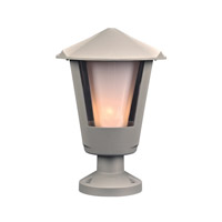 PLC Lighting Silva 1 Light Outdoor Wall Light in Silver 1888SL