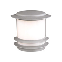 PLC Lighting Tusk Outdoor Wall Sconce in Silver with Bk Glass 1892/CFL-SL