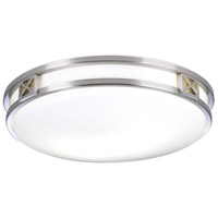 Serena LED 16 inch Satin Nickel Flush Mount Ceiling Light