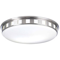PLC Lighting 1958SNLED Paxton LED 16 inch Satin Nickel Flush Mount Ceiling Light photo thumbnail