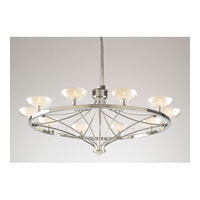 PLC Lighting Carrousel Chandelier in Polished Chrome with Frost Glass 1984-PC