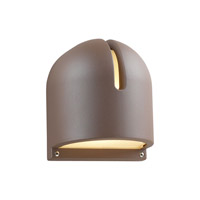 PLC Lighting Phoenix Outdoor Wall Sconce in Bronze with Frost Glass 2024-BZ