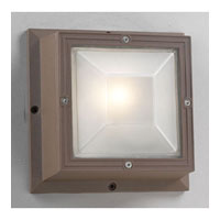 PLC Lighting Ludlow Outdoor Wall Sconce in Bronze with Frost Glass 2032-BZ