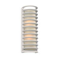 Sunset 2 Light 17 inch White Outdoor Wall Light