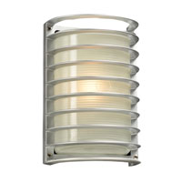 PLC Lighting Sunset 1 Light Outdoor Wall Sconce in Silver 2038-SL