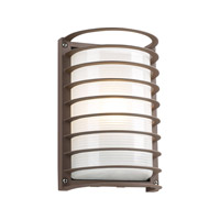PLC Lighting Evora Outdoor Wall Sconce in Bronze with Frost Glass 2038-BZ