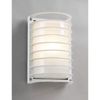 PLC Lighting Evora Outdoor Wall Sconce in White with Frost Glass 2038/CFL-WH