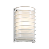 Sunset 1 Light 11 inch White Outdoor Wall Light