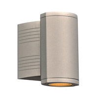PLC Lighting 2050SL Lenox I LED 7 inch Silver Outdoor Wall Light Down Light