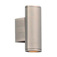 PLC Lighting 2055SL Lenox I LED 10 inch Silver Outdoor Wall Light Up and Down Light