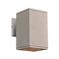 PLC Lighting 2085SL Dominick LED 8 inch Silver Outdoor Wall Light Down Light