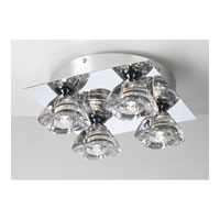 PLC Lighting Aquaria Flush Mount in Polished Chrome with Clear Glass 21055-PC