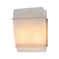 PLC Lighting Enzo-II Sconce in Satin Nickel with Matte Opal Glass 21064-SN
