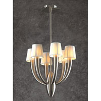 Sahara 6 Light 16 inch Satin Nickel Chandelier Ceiling Light