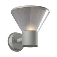 PLC Lighting 2107SL113GU24 Nautica 1 Light 8 inch Silver Outdoor Wall Light
