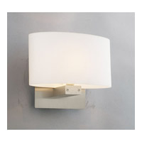 PLC Lighting Ibiza 1 Light Wall Sconce in Satin Nickel 21118-SN